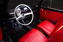 Classic Car Interior - Red Lea...