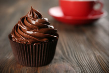 Chocolate Cupcake On Table