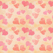Seamless Valentine's day watercolor hearts