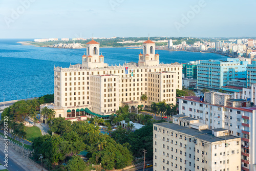 Photo  Panoramic view of  Havana with a view of the city skyline