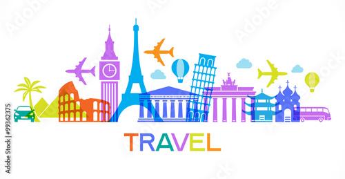 Fotografie, Obraz Travel famous landmarks