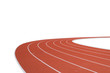 canvas print picture - Running track on white background