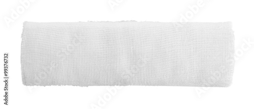 Fotografering Medical bandage roll isolated