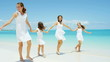 lifestyle recreation Caucasian female family daughters tropical beach coast