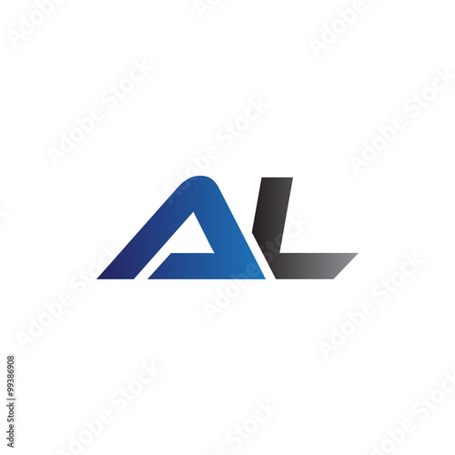 simple modern letters initial logo al buy this stock vector and