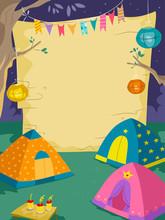 Night Camp Blank Board