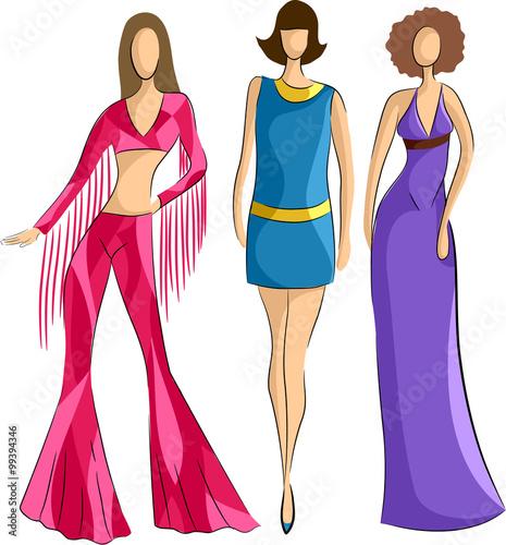 Valokuva  Girls 70s Fashions