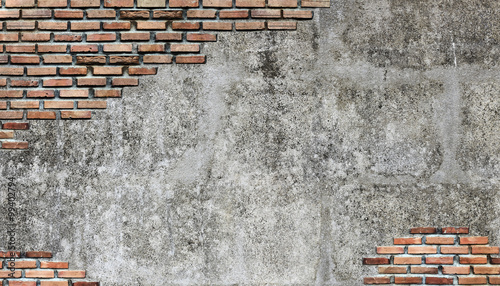 Photo sur Toile Brick wall brick wall vintage background