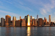 Lower Manhattan sunrise