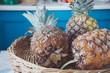 Pineapples in basket