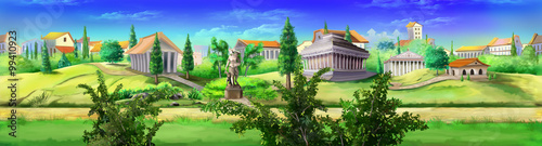 Ancient Rome panorama view. Image 03 Canvas Print