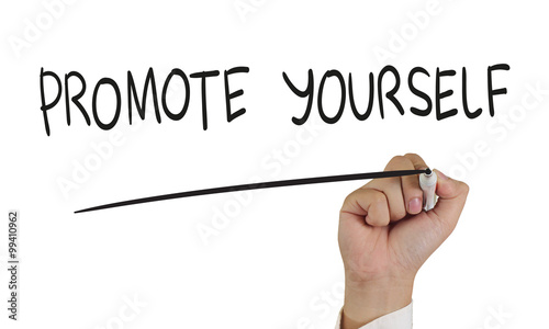 Promote Yourself, Concept Typography Canvas Print