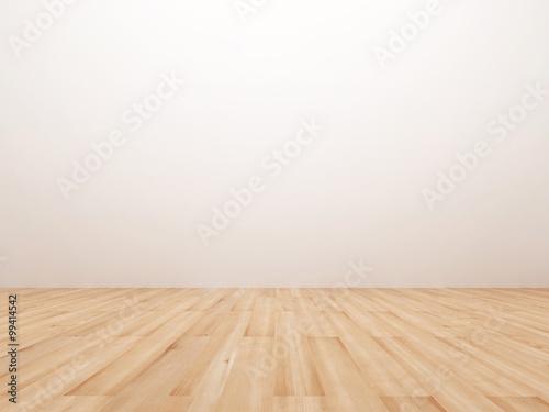 Fotografía Empty room with wooden floor