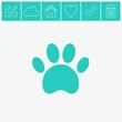 Paw vector icon.