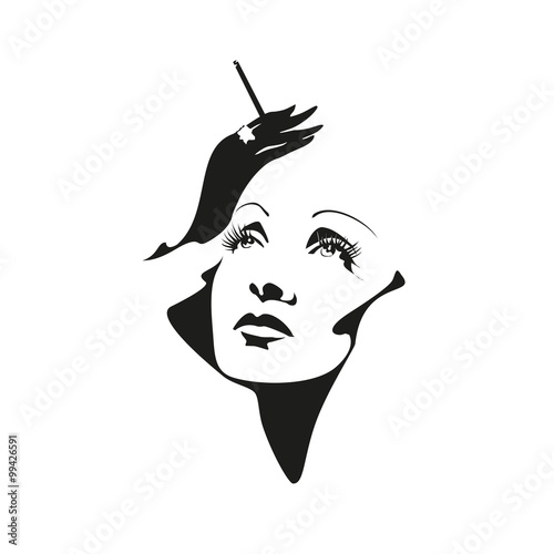 Fotografia  portrait Marlene Dietrich