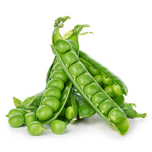 Fresh Green Peas Close-up Isolated On A White Background.