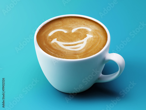 Face Laughing Coffee Cup Concept