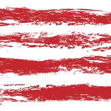 Grunge Vintage Red Stripes Background, Illustration Design Element