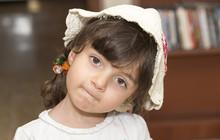 Headshot Of Small Iraqi Girl