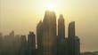 Aerial Dubai Skyscrapers construction Persian Gulf UAE