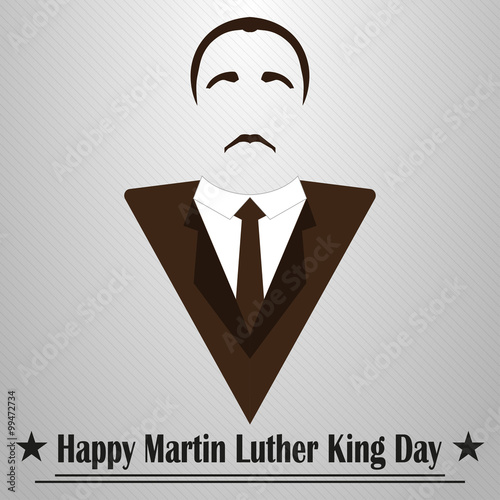 Photo  Martin Luther King Day. Hairstyle, mustache and suit
