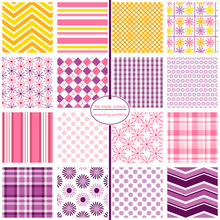 Repeating Patterns For Digital Paper, Scrapbooking, Cards, Invitations, Gift Wrap, And Paper Backgrounds. File Includes: Daisy Prints, Polka Dots, Stripes, Gingham/plaids, Argyle And Chevrons.