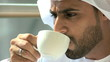 UAE Arabic businessman male beard office coffee property real estate development