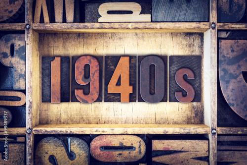 Fotografía  1940s Concept Letterpress Type