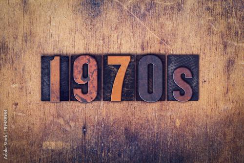 Photo 1970s Concept Wooden Letterpress Type