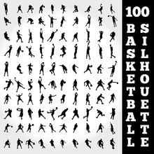 100 Basketball Silhouette