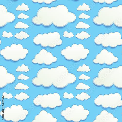 Foto op Plexiglas Hemel Seamless clouds in blue sky