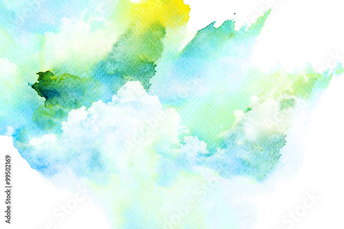 watercolor illustration of cloud buy this stock illustration and