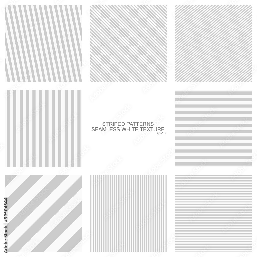 Fototapeta Simple striped patterns, seamless