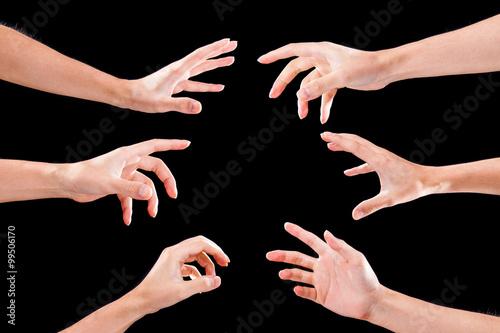 Fotografia  Ręce do konkurowania