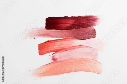 Fotografie, Obraz  close up of lipstick smear sample