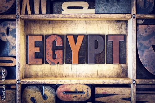 Fotobehang Midden Oosten Egypt Concept Letterpress Type
