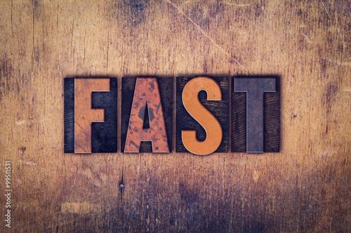 Photo Fast Concept Wooden Letterpress Type