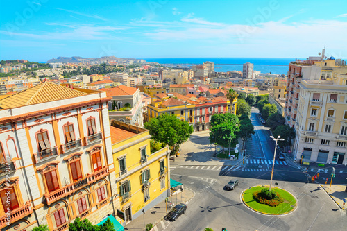 Cagliari cityscape on a clear day
