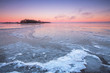 Winter sunset on the ocean