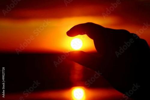 Fotografia Che sensibilità il sole: arrossire tutte le sere al momento di tramontare