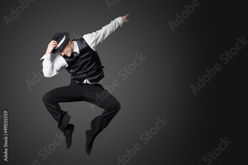 Fotografie, Tablou  Young male professional dancer dancing in studio.