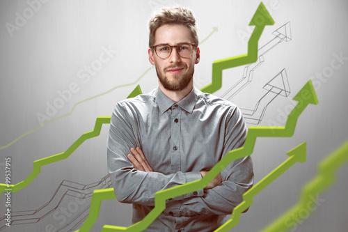 Cuadros en Lienzo El hombre de negocios con éxito