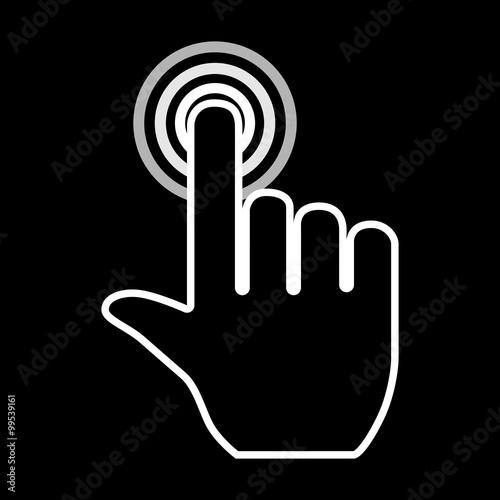 Fototapeta Hand pointer icon obraz na płótnie