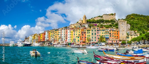Photo sur Aluminium Ligurie Fisherman town of Portovenere, Liguria, Italy