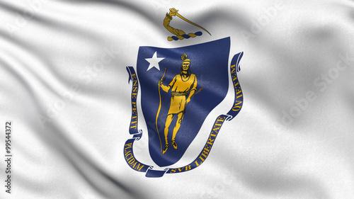 US state flag of Massachusetts Fototapeta