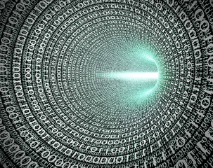 Tunnels with binary code as a data vortex