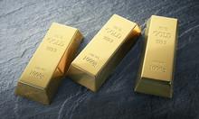 3 Goldbarren Auf Schiefer