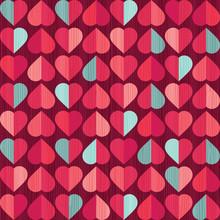 Retro Seamless Valentines Day ...