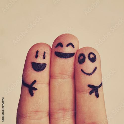 mutlu parmaklar Canvas Print