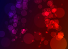 Purple And Red Bokeh Background